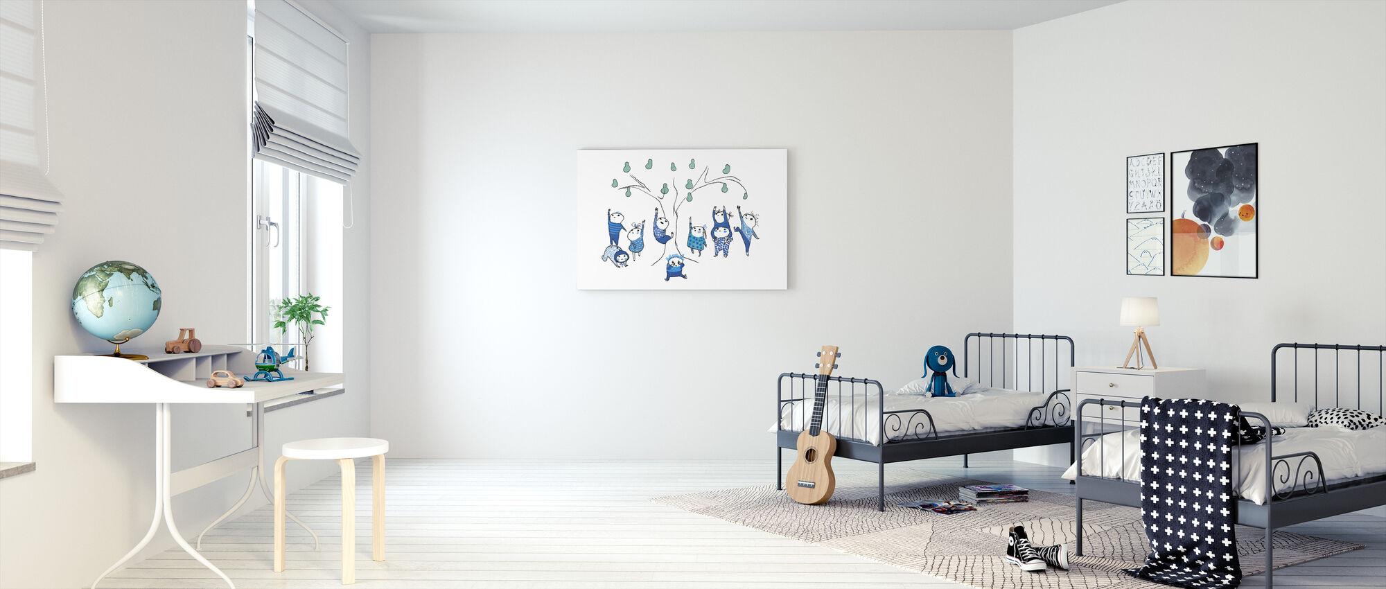 Nine petit bleu ne peut pas atteindre - Impression sur toile - Chambre des enfants