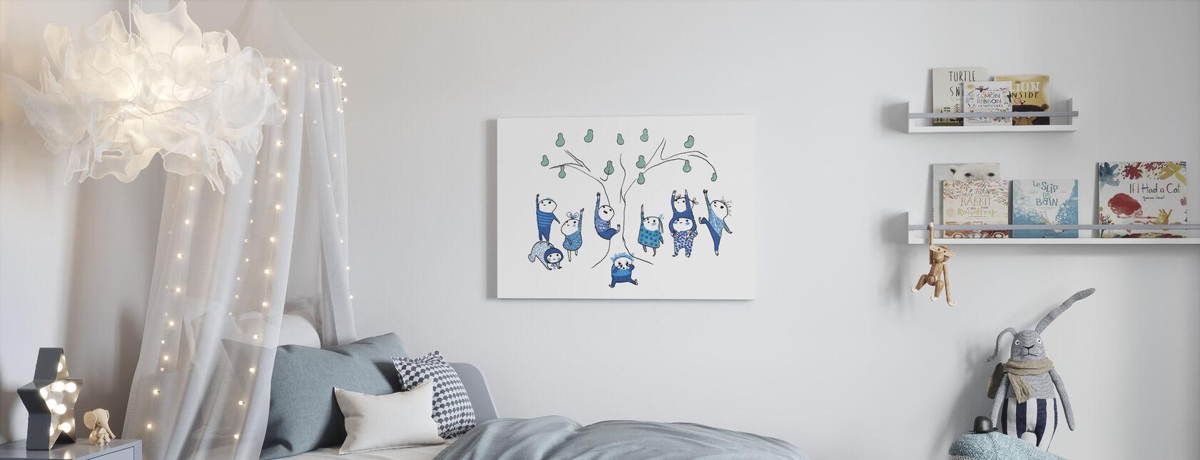 Nine Small Blue Kann Nicht erreichen - Leinwandbild - Kinderzimmer