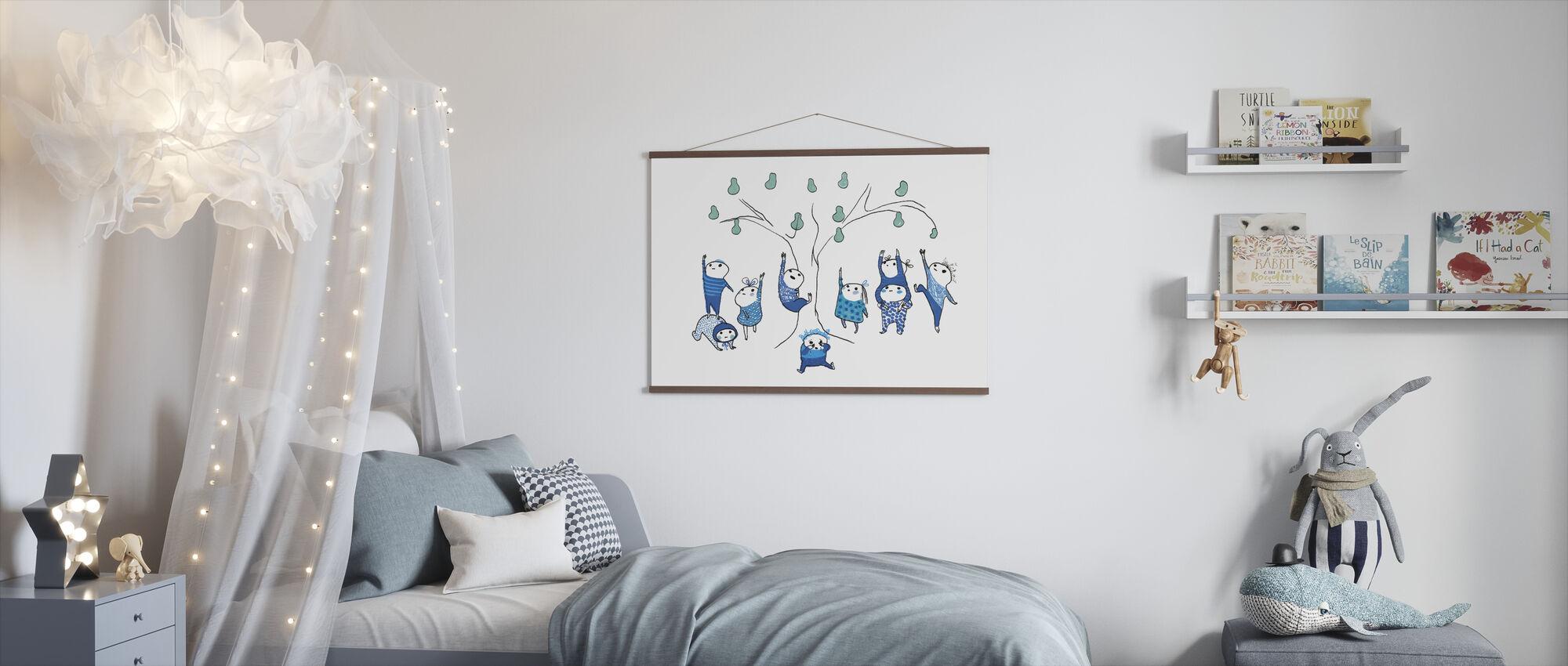 Negen klein blauw kan niet bereiken - Poster - Kinderkamer