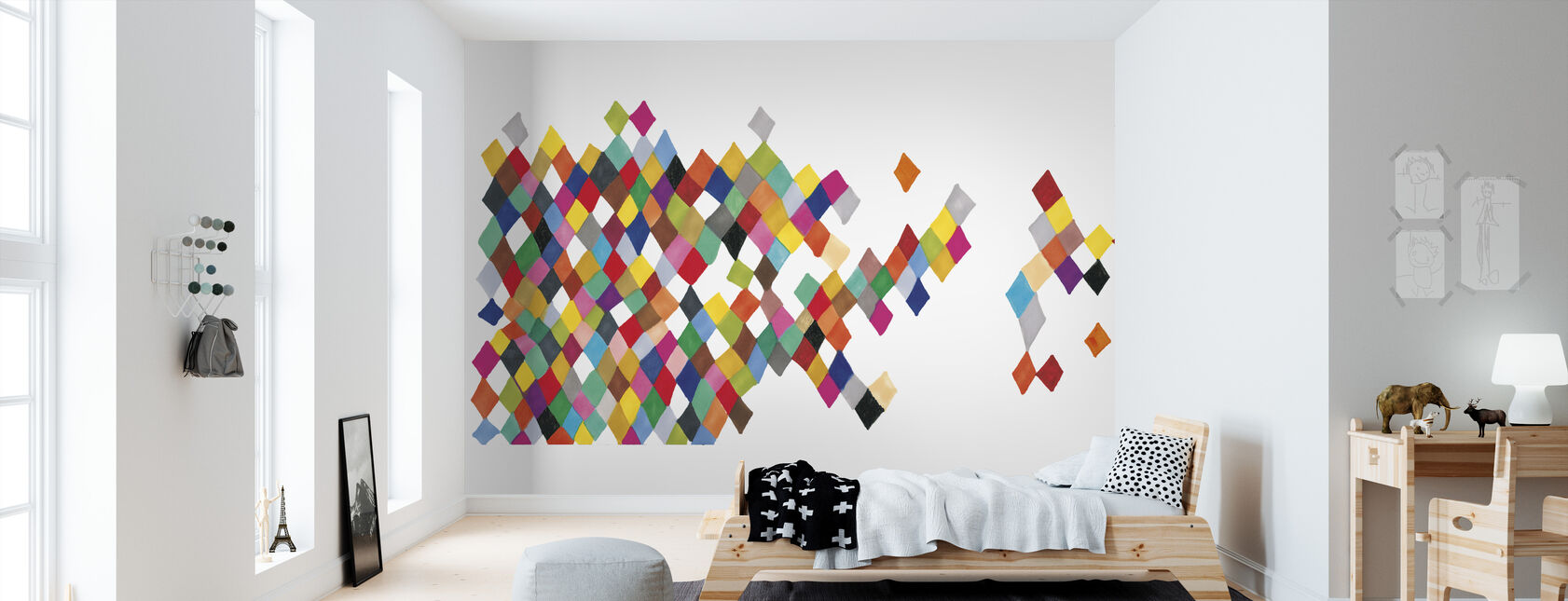 Motley Harlequin Motley Boxes - Wallpaper - Kids Room