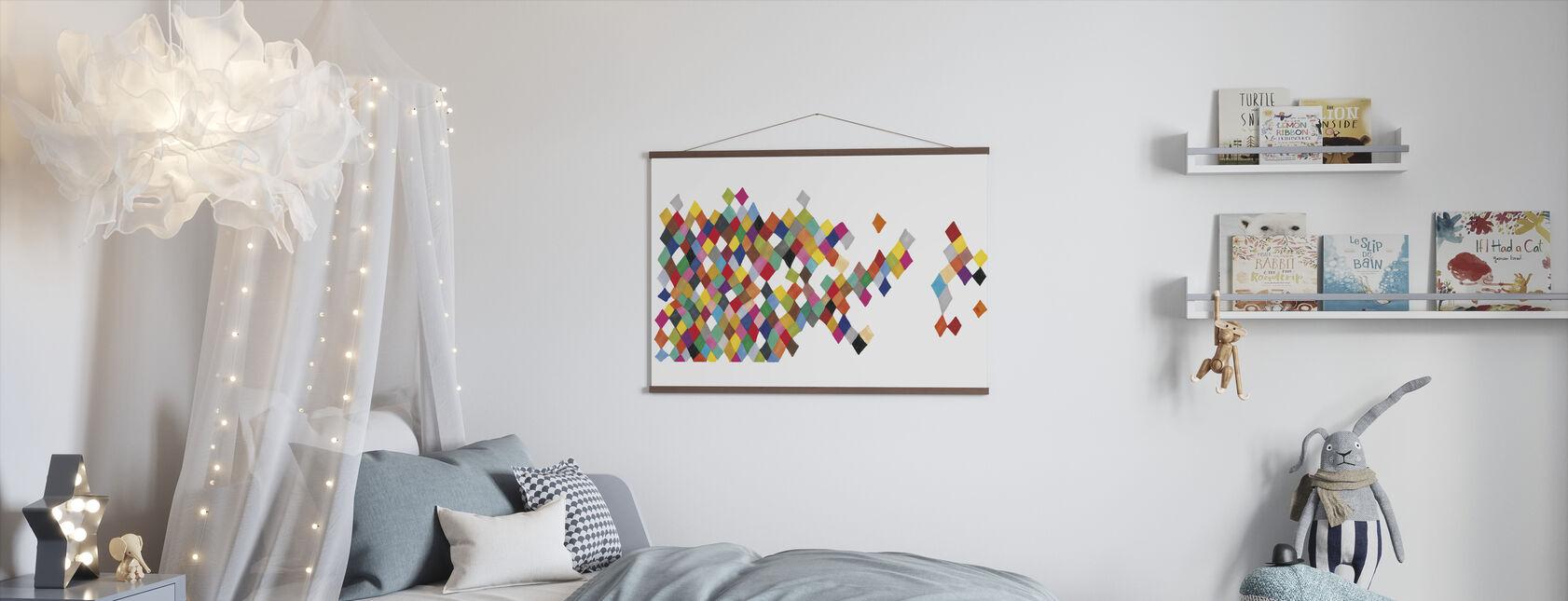 Motley Harlequin Motley Boxes - Poster - Kids Room
