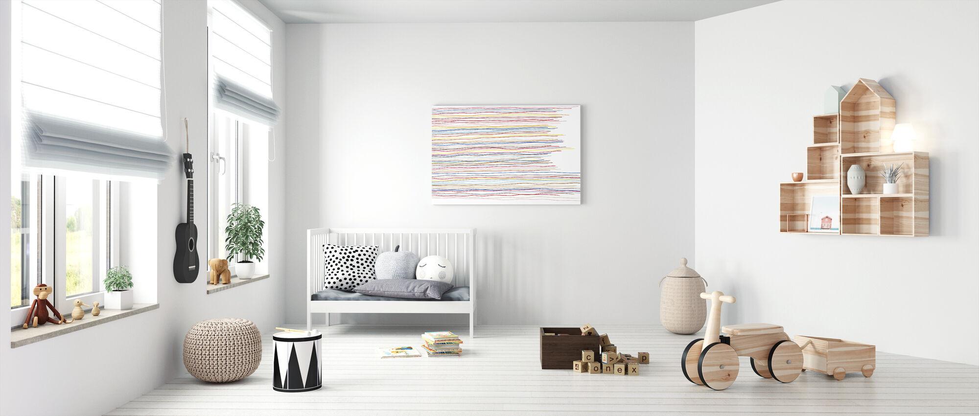 Variegated Stripes - Canvas print - Nursery