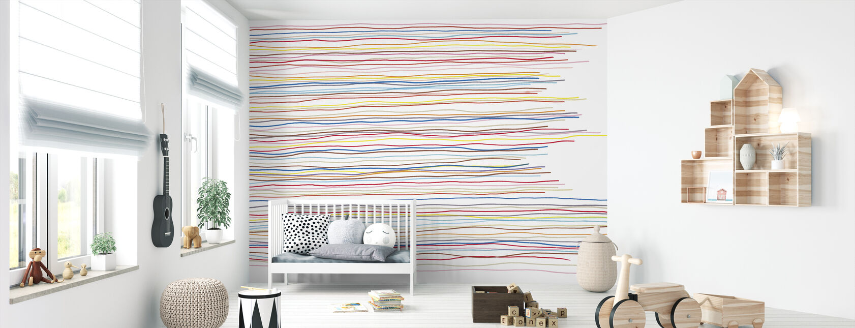 Variegated Stripes - Wallpaper - Nursery