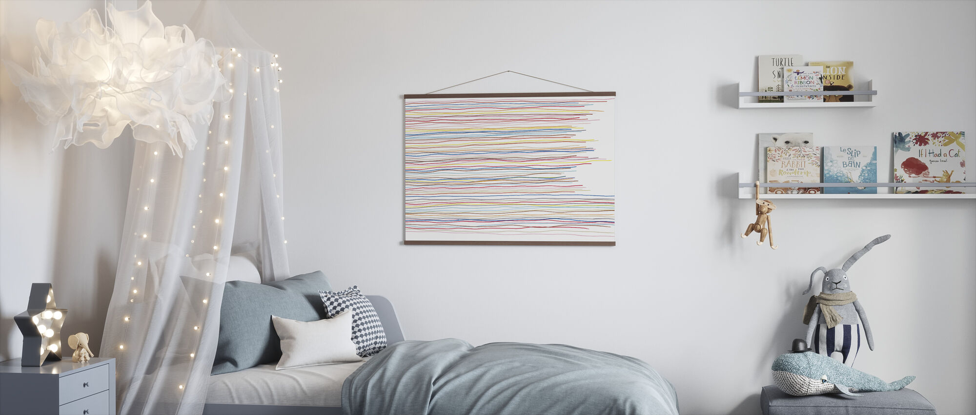 Variegated Stripes - Poster - Kids Room
