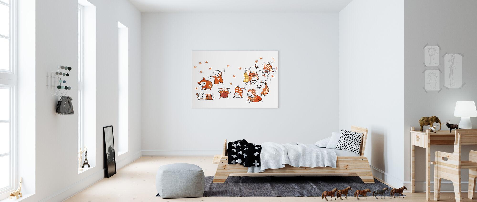 Dix Brandgullegula peut presque roue - Impression sur toile - Chambre des enfants