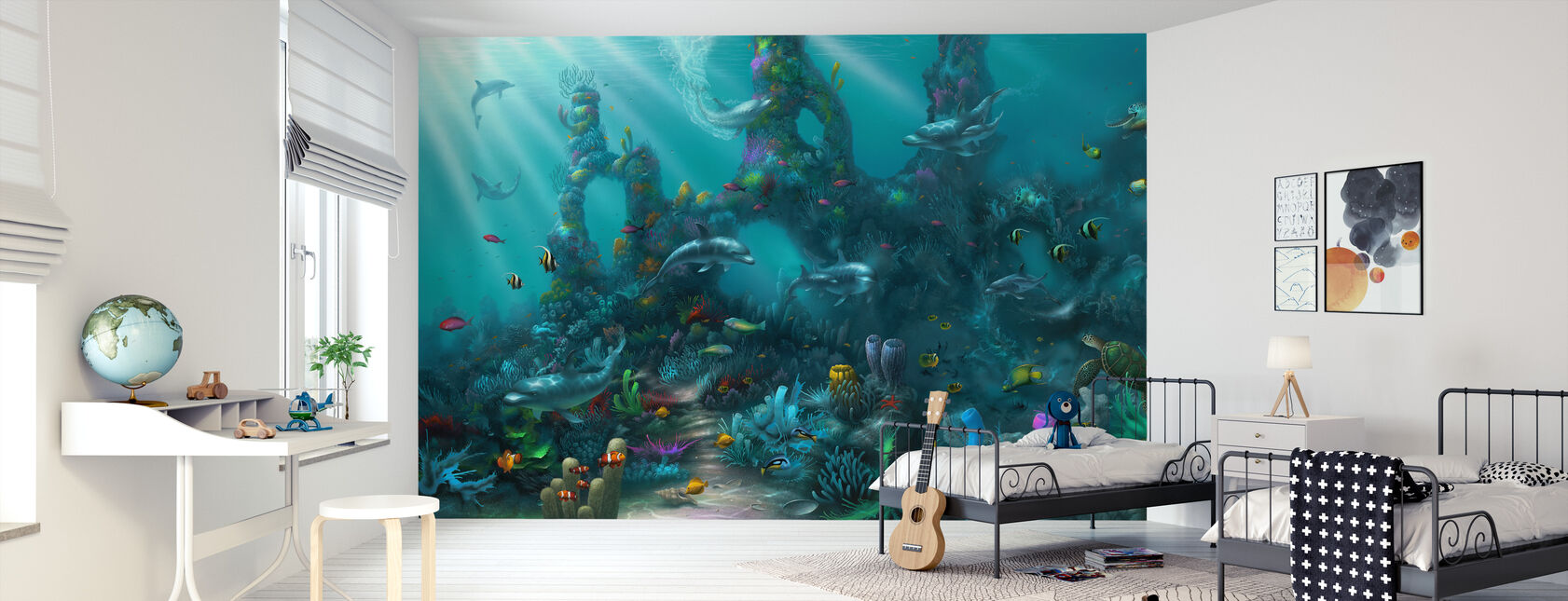 Dolphin Paradise - Wallpaper - Kids Room
