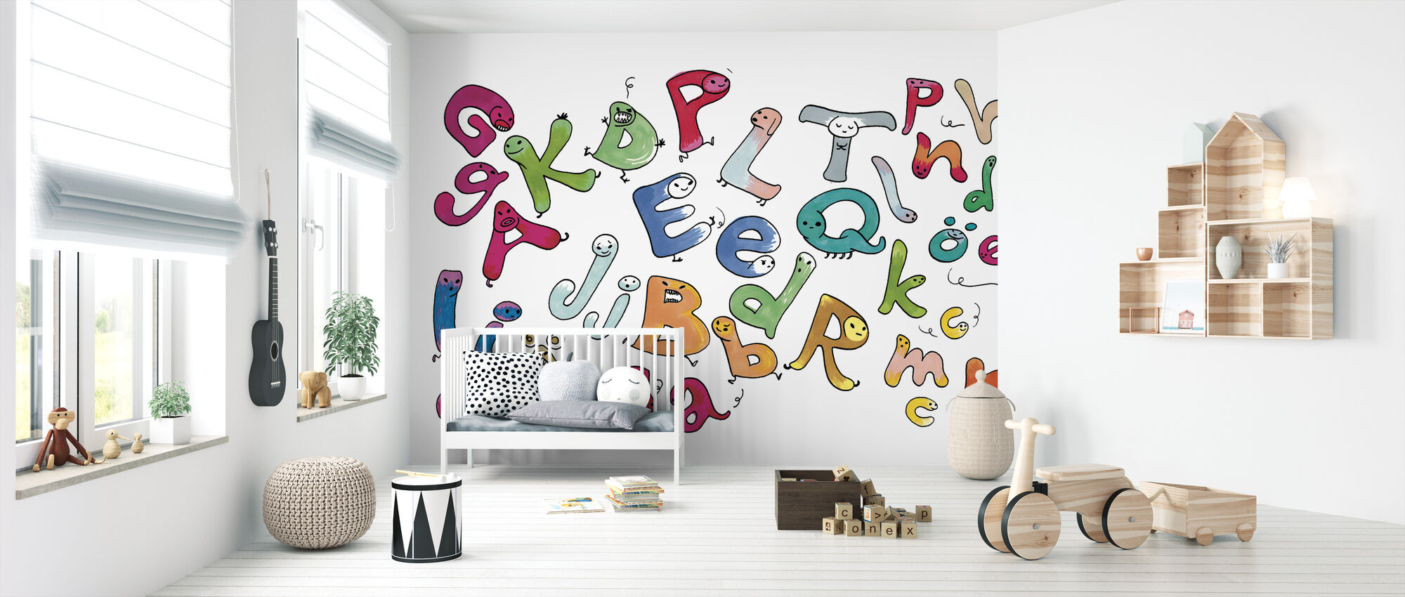 Variegated Letters - Wallpaper - Nursery