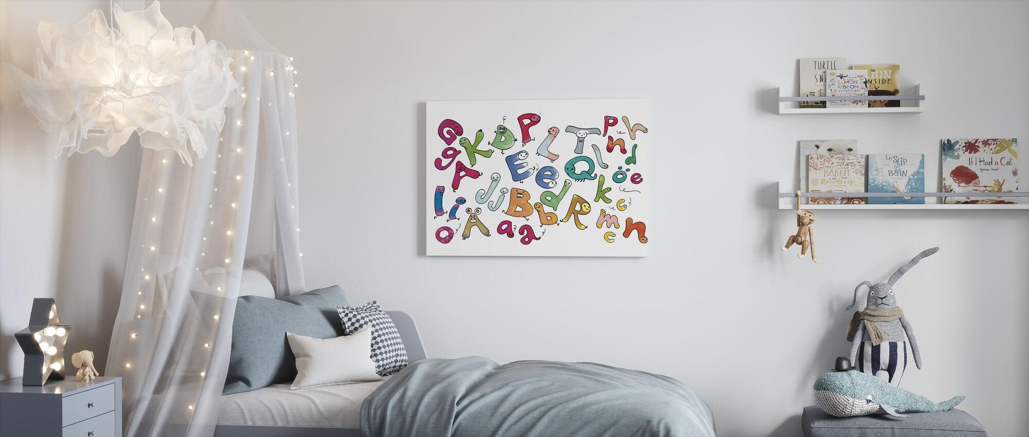 Bonte Letters - Canvas print - Kinderkamer