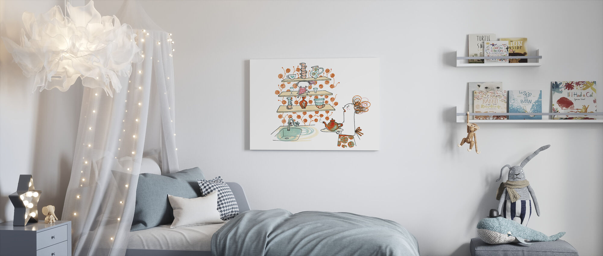 Above a Vase Between Two Glass - Canvas print - Kids Room
