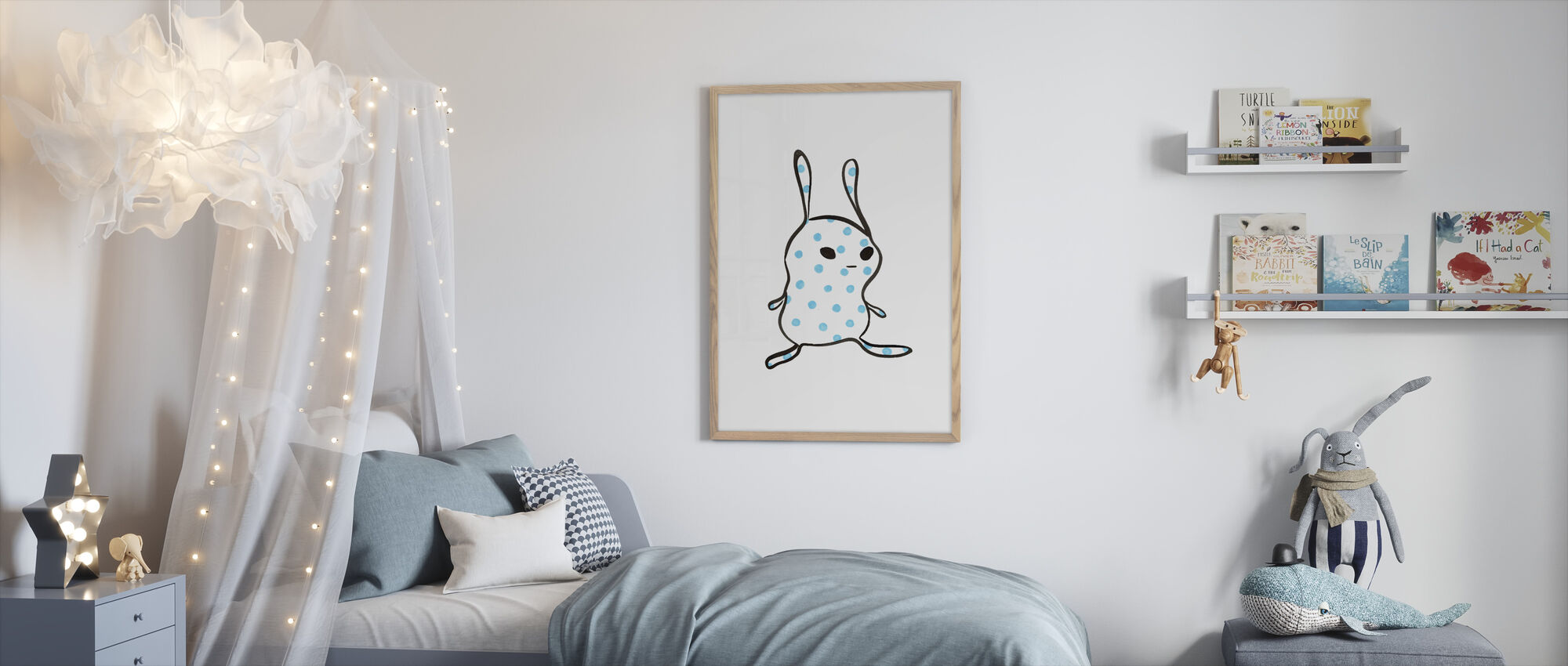Bump - Framed print - Kids Room