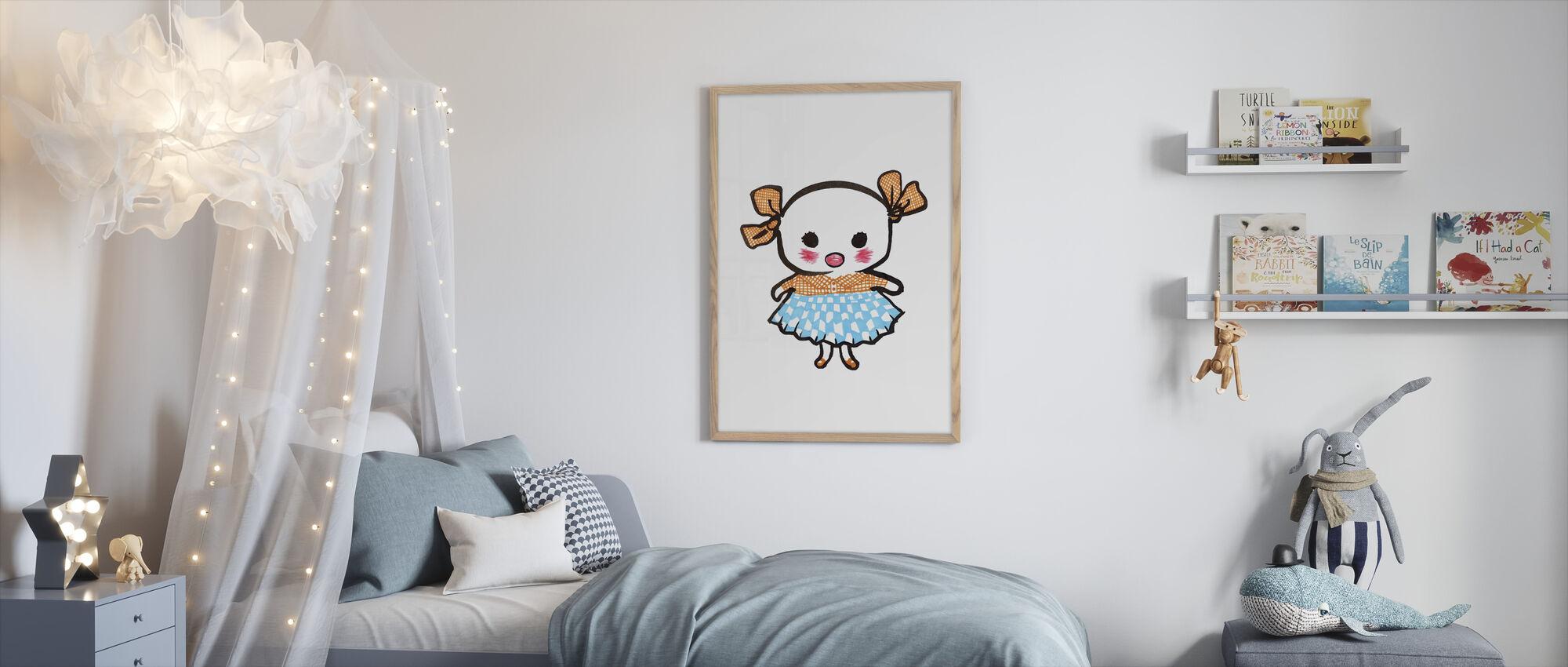 Lill-Stina - Kehystetty kuva - Lastenhuone