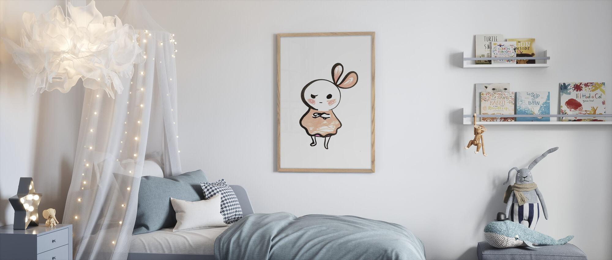 Little Pink - Little Cutting - Framed print - Kids Room