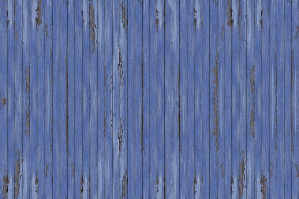 Blue Vintage Wood Wall Fototapeter & Tapeter 100 x 100 cm