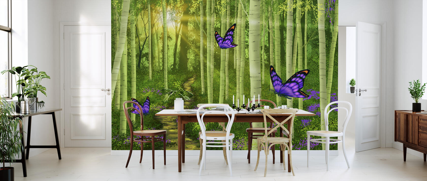 fantasy forest preiswerte fototapete photowall. Black Bedroom Furniture Sets. Home Design Ideas