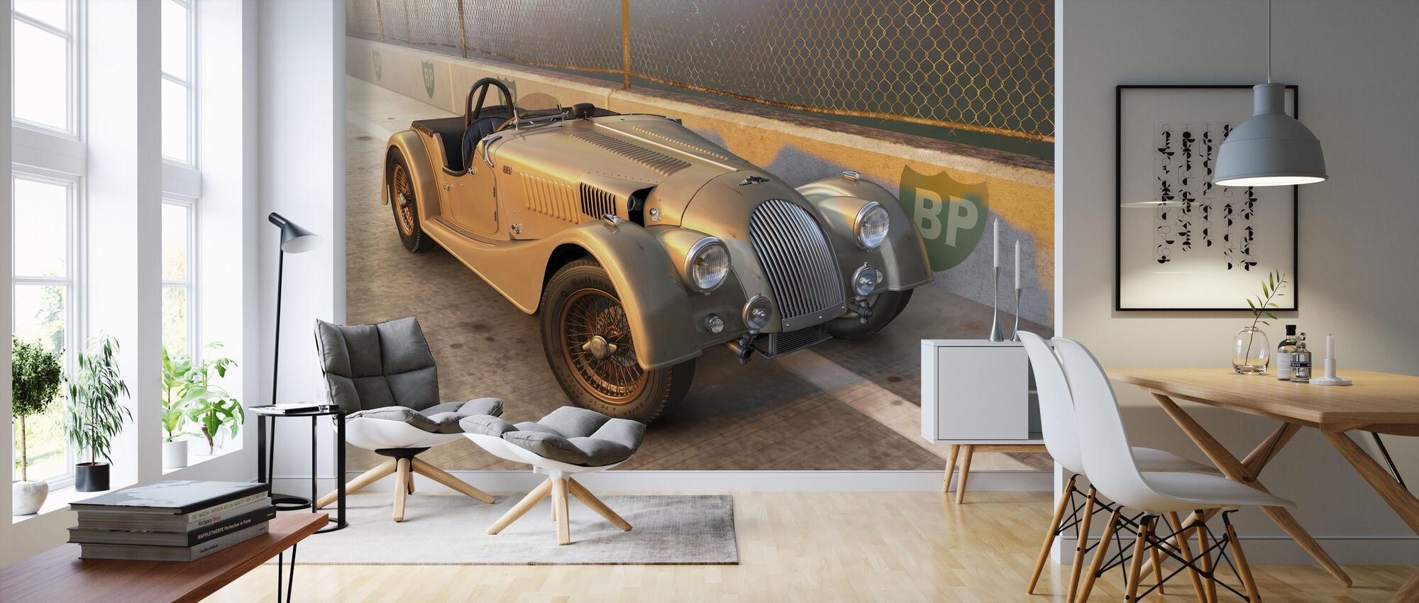 British Sports Car på sporet - Tapet - Stue