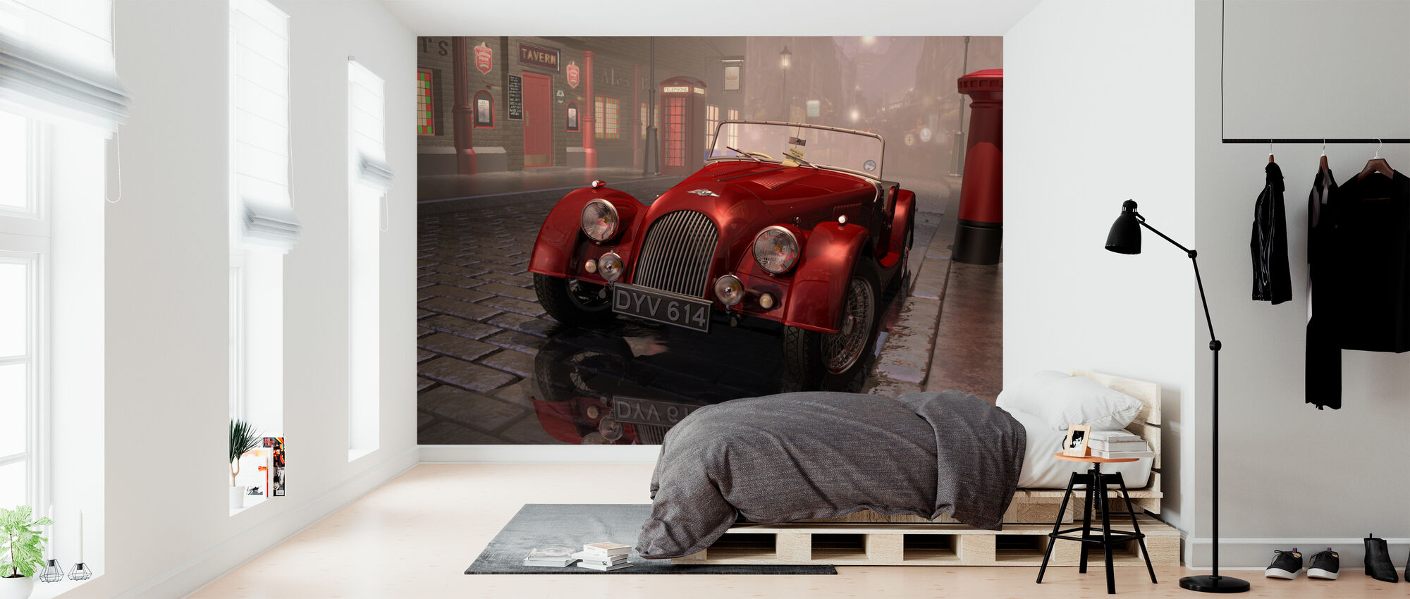 British Sports Car in London - Wallpaper - Bedroom