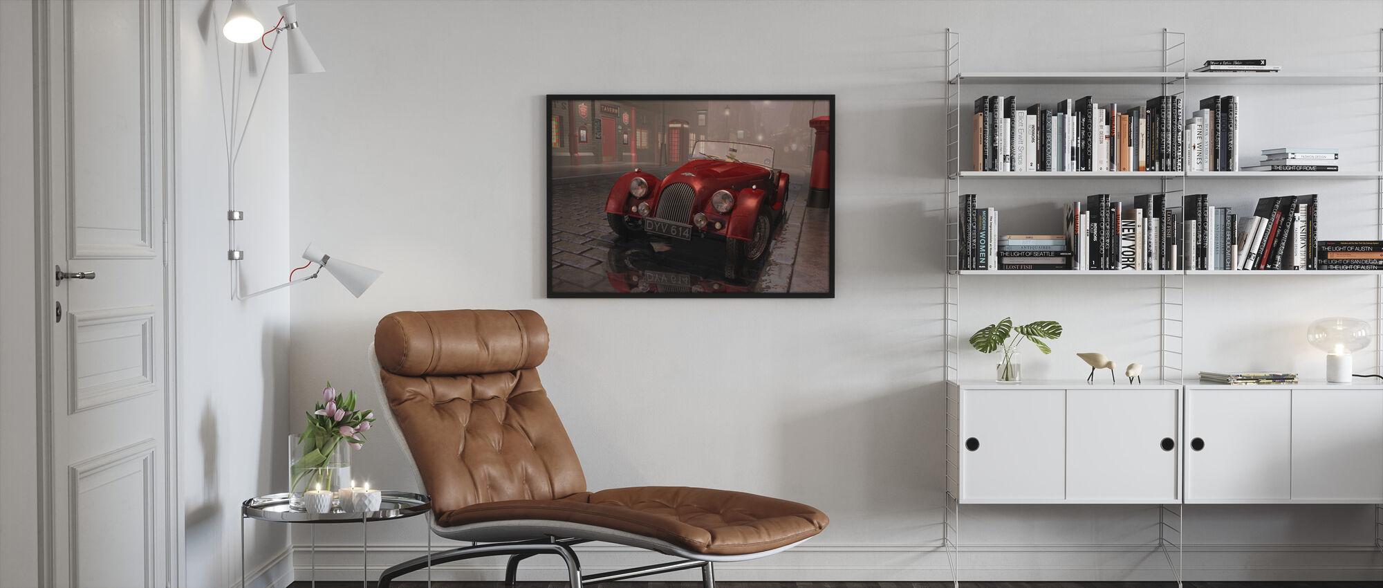 British Sports Car in London - Framed print - Living Room