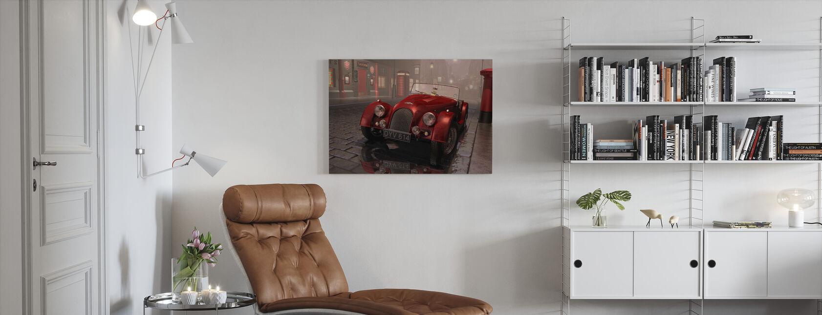 Brittisk sportbil i London - Canvastavla - Vardagsrum