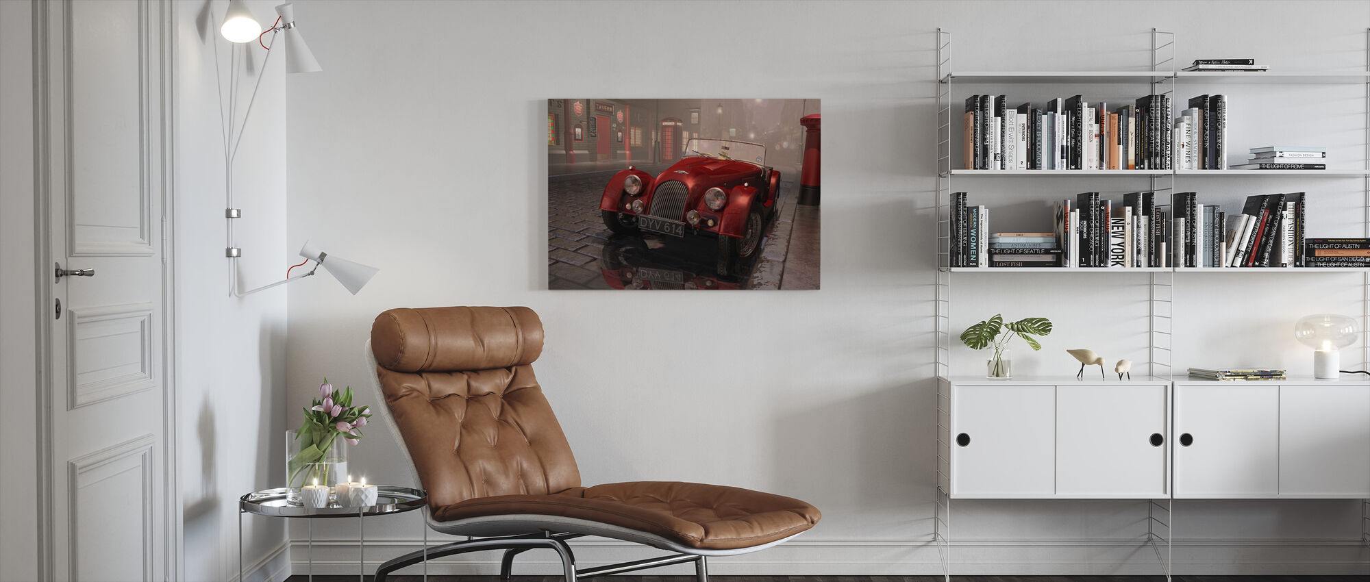 British Sports Car in London - Canvas print - Living Room