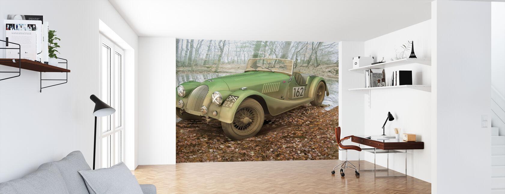 Britse sportwagen herfst - Behang - Kantoor