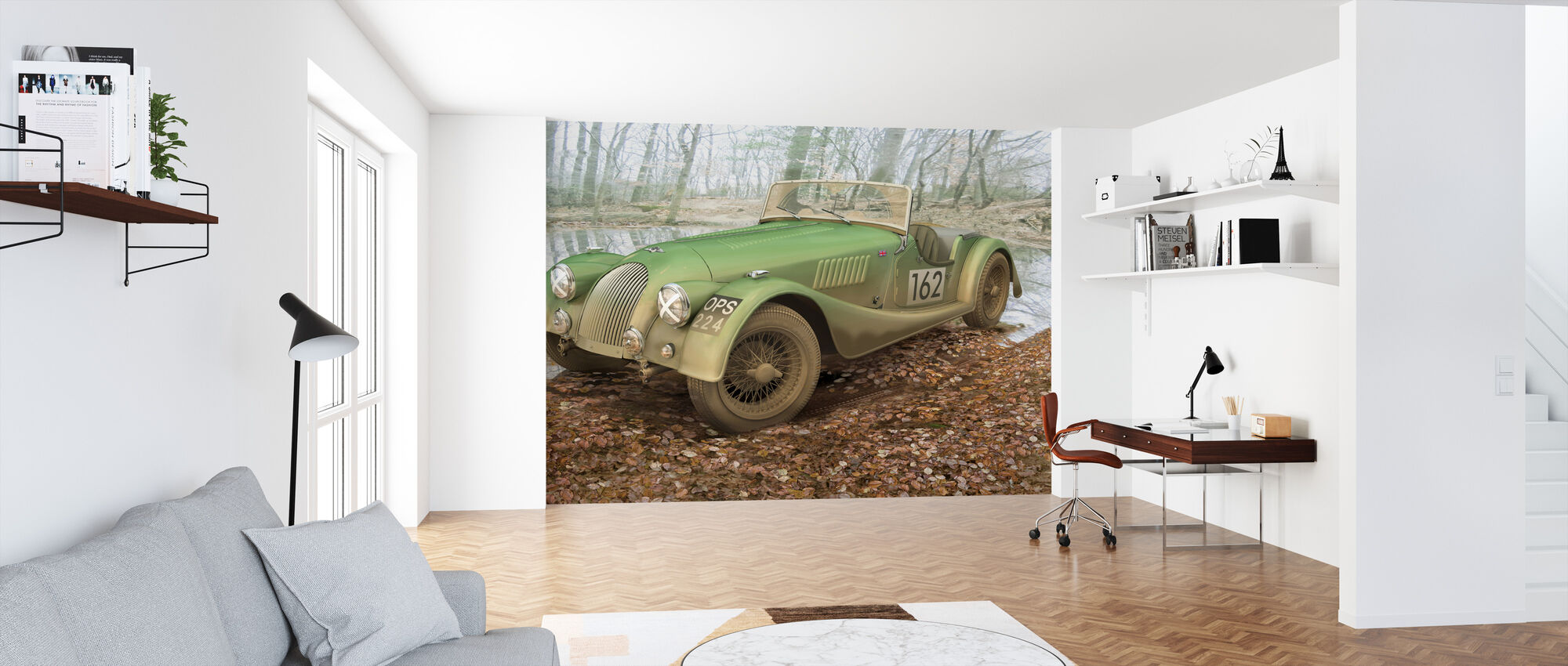 British Sports Car Autumn - Wallpaper - Office