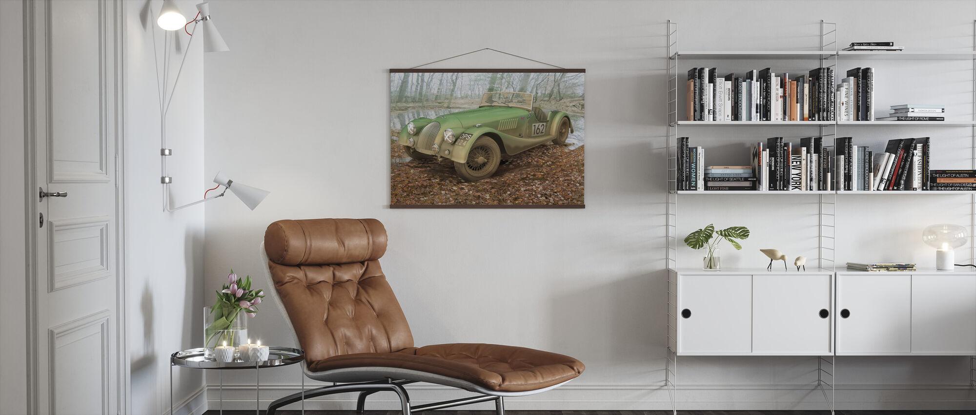 British Sports Car Autumn - Poster - Living Room
