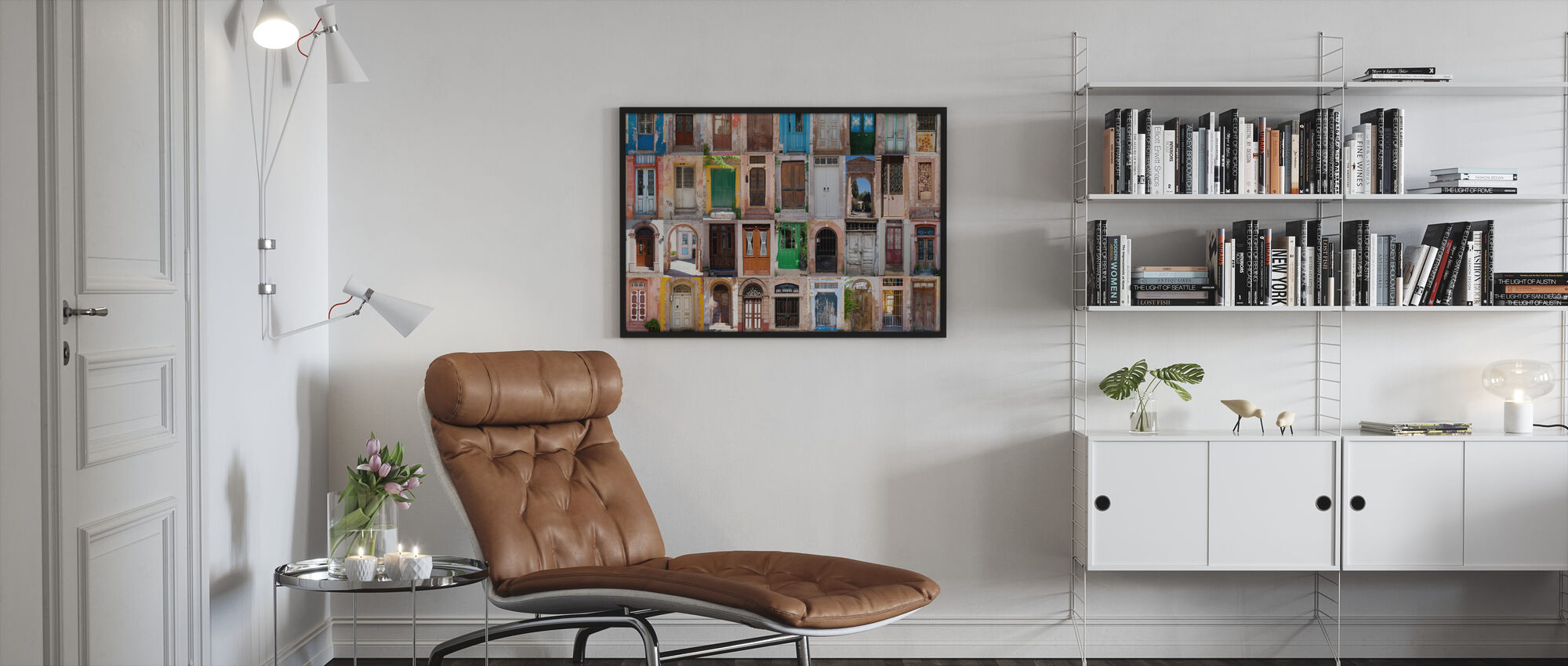 Colorful Doors - Framed print - Living Room