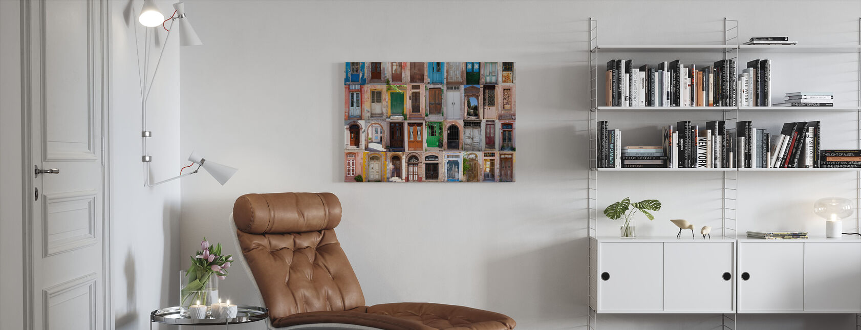 Kleurrijke deuren - Canvas print - Woonkamer