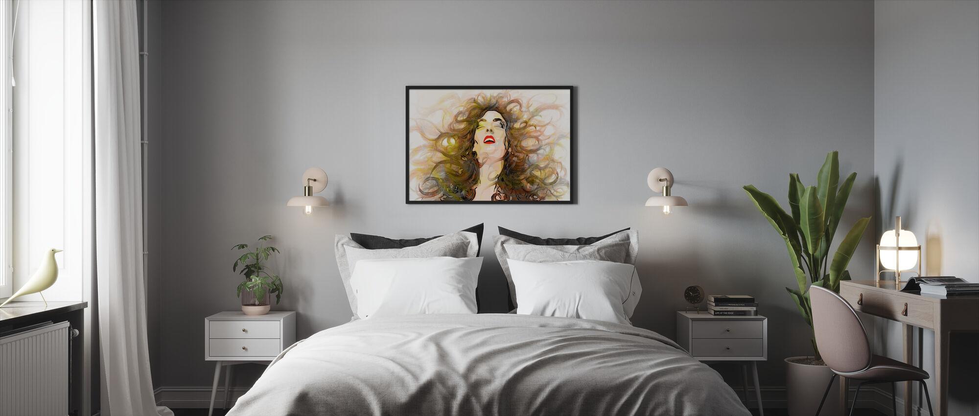 Myrskyinen - Kehystetty kuva - Makuuhuone
