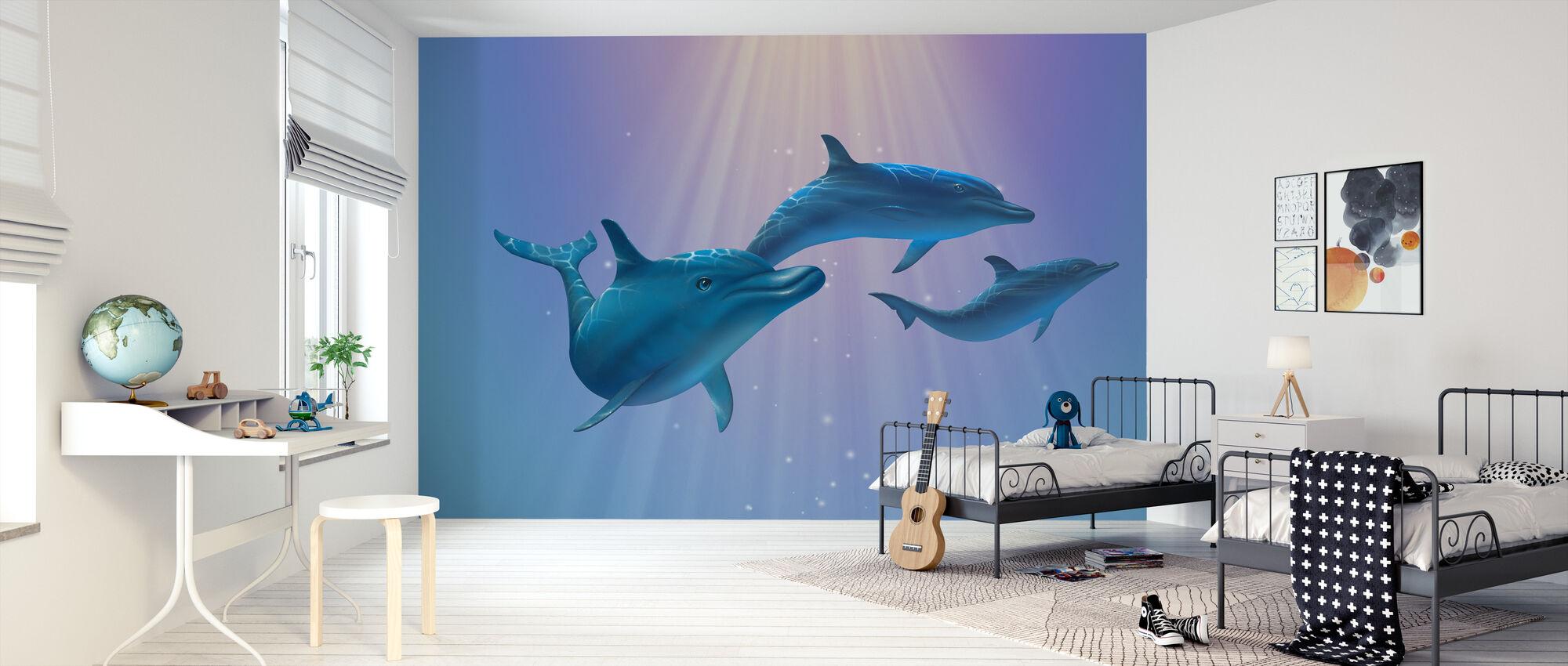 Delphin Licht - Tapete - Kinderzimmer