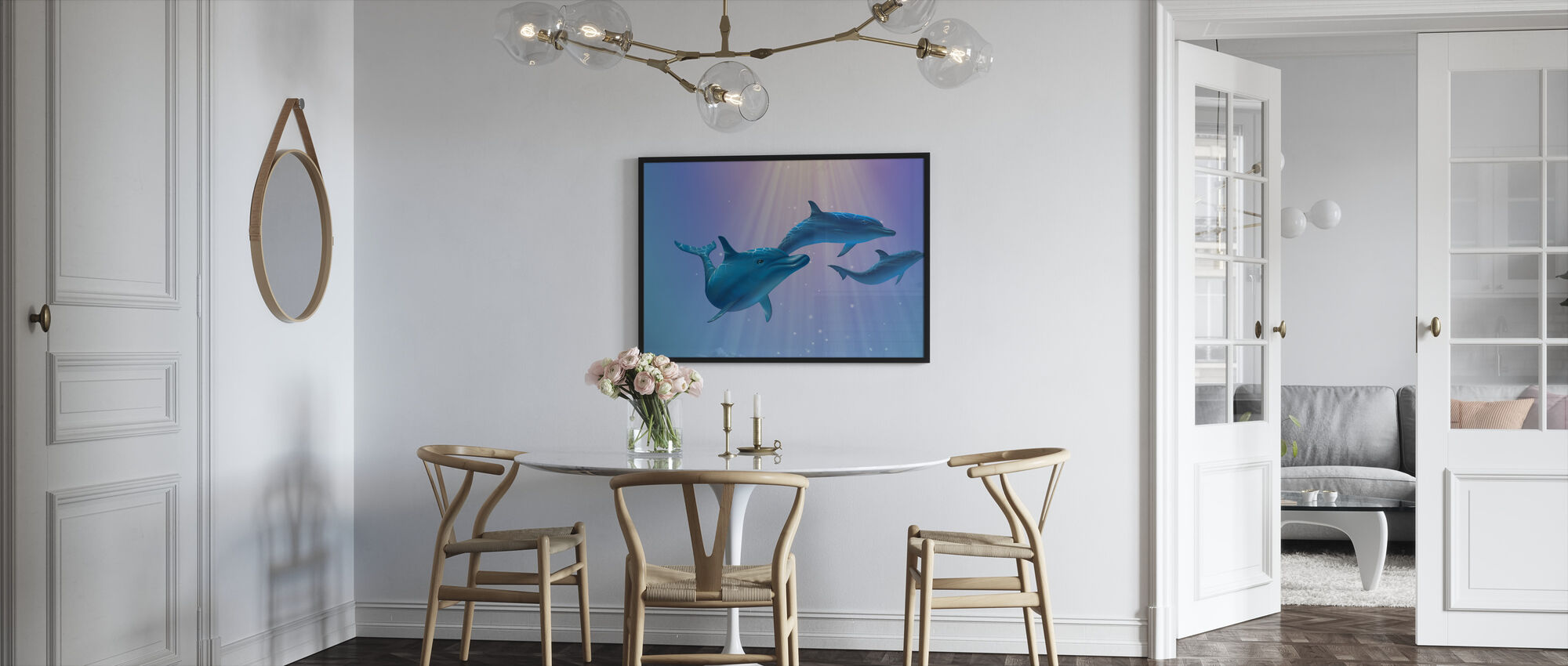 Dolphin Light - Framed print - Kitchen