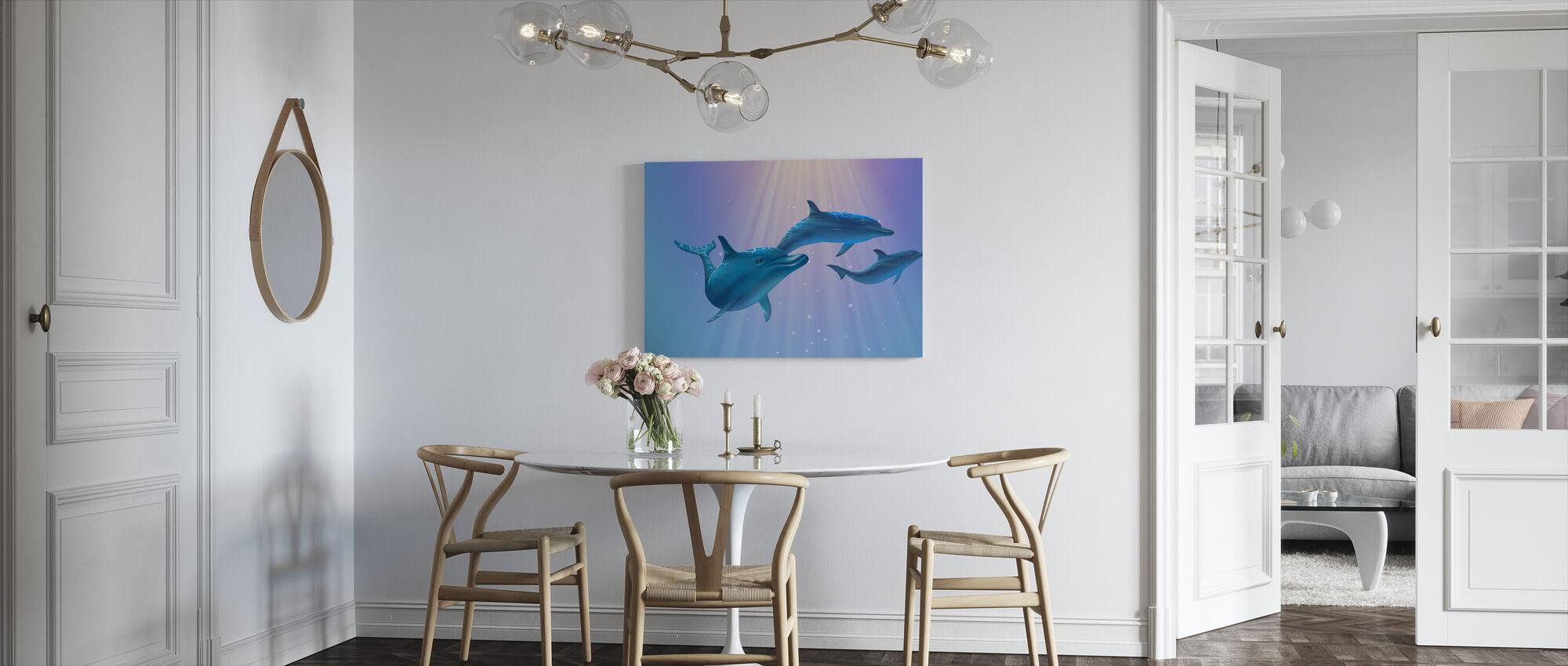 Delfiini valo - Canvastaulu - Keittiö