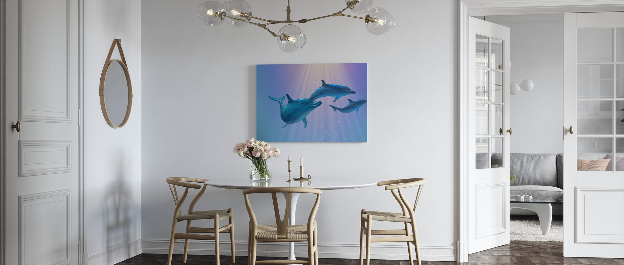Dolfijn Licht - Canvas print - Keuken