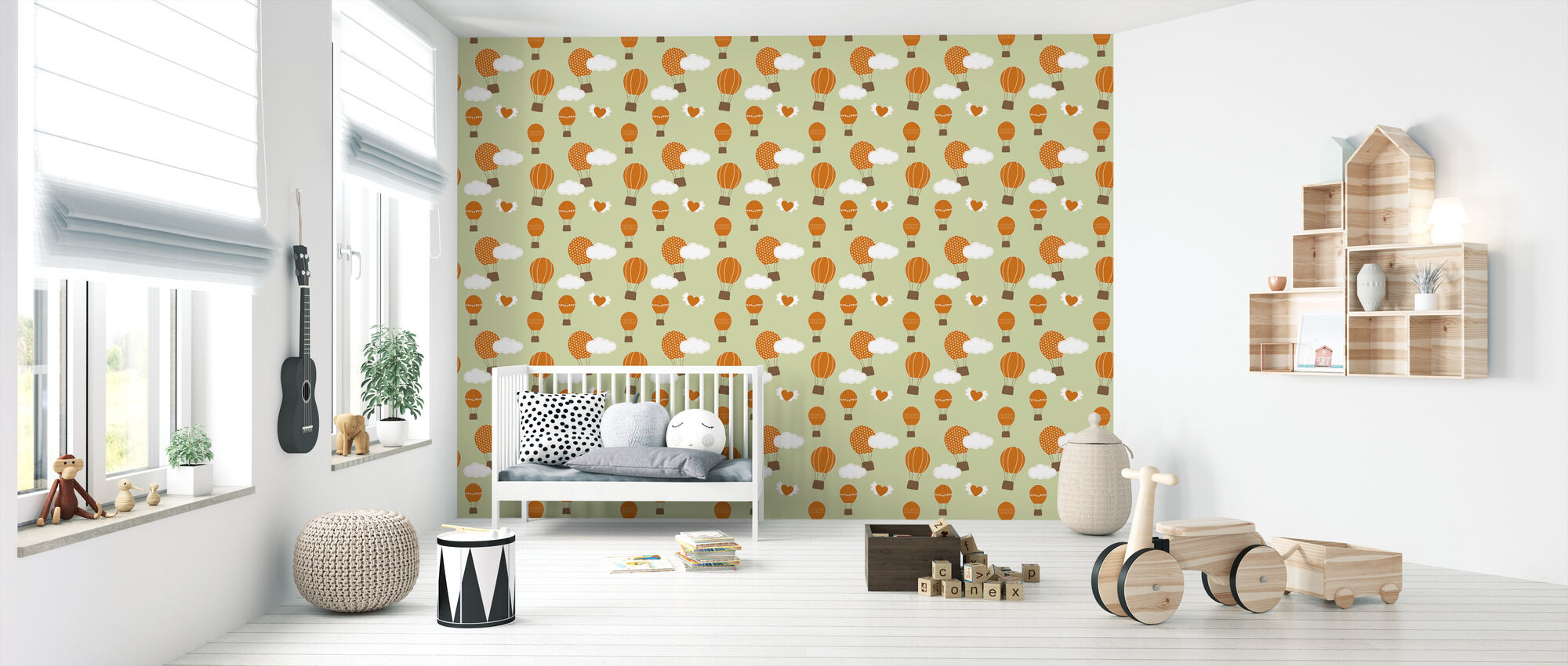 Perfect Day Green - Wallpaper - Nursery