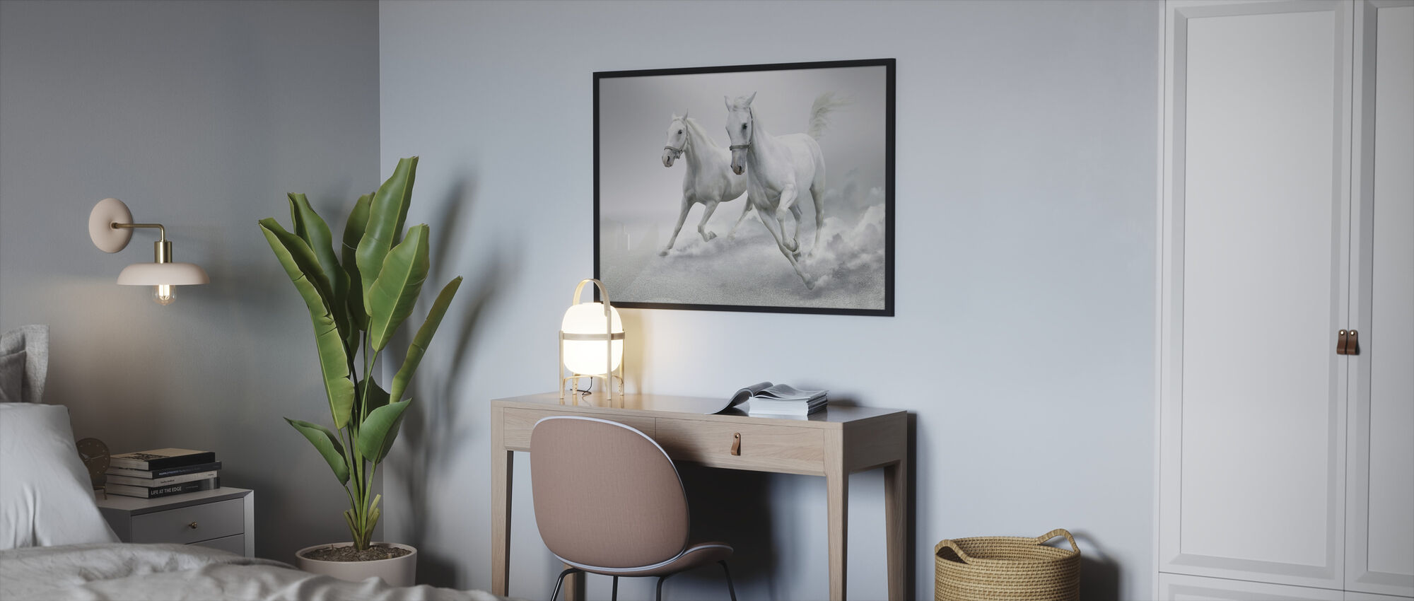 White Horses - Framed print - Bedroom