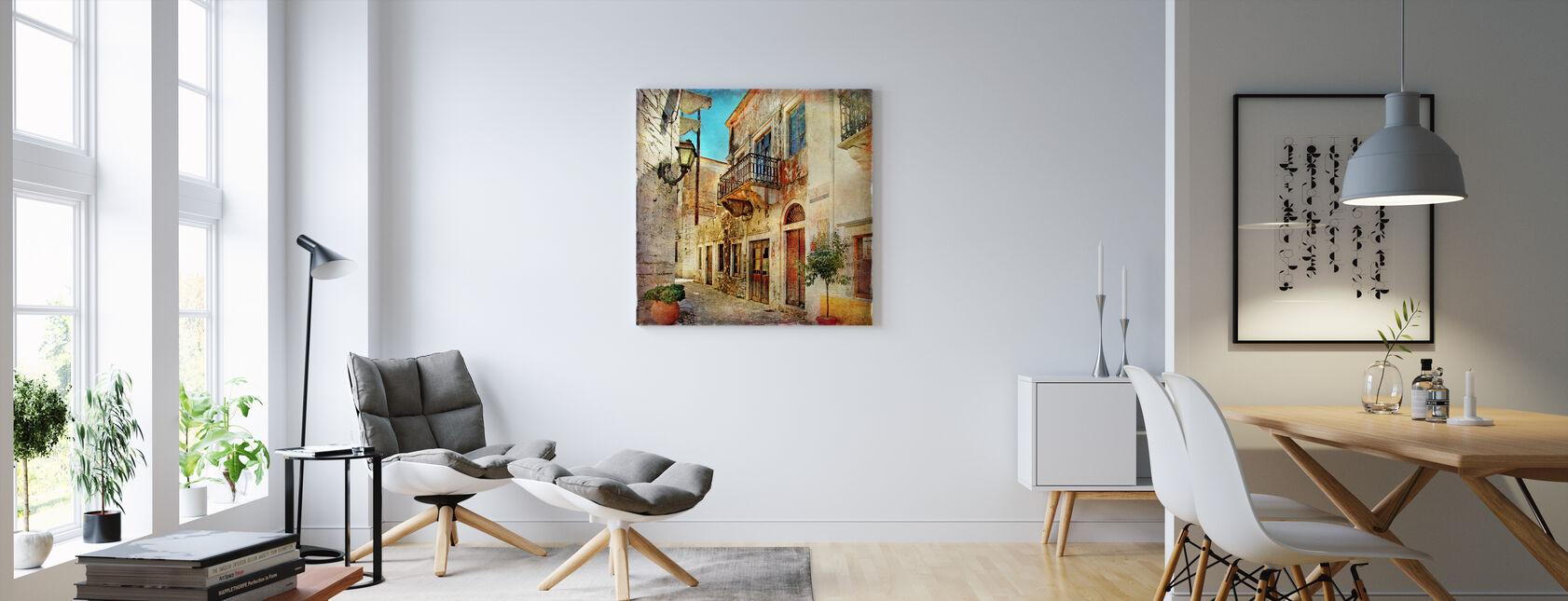 Gamle gaten i Hellas - Lerretsbilde - Stue