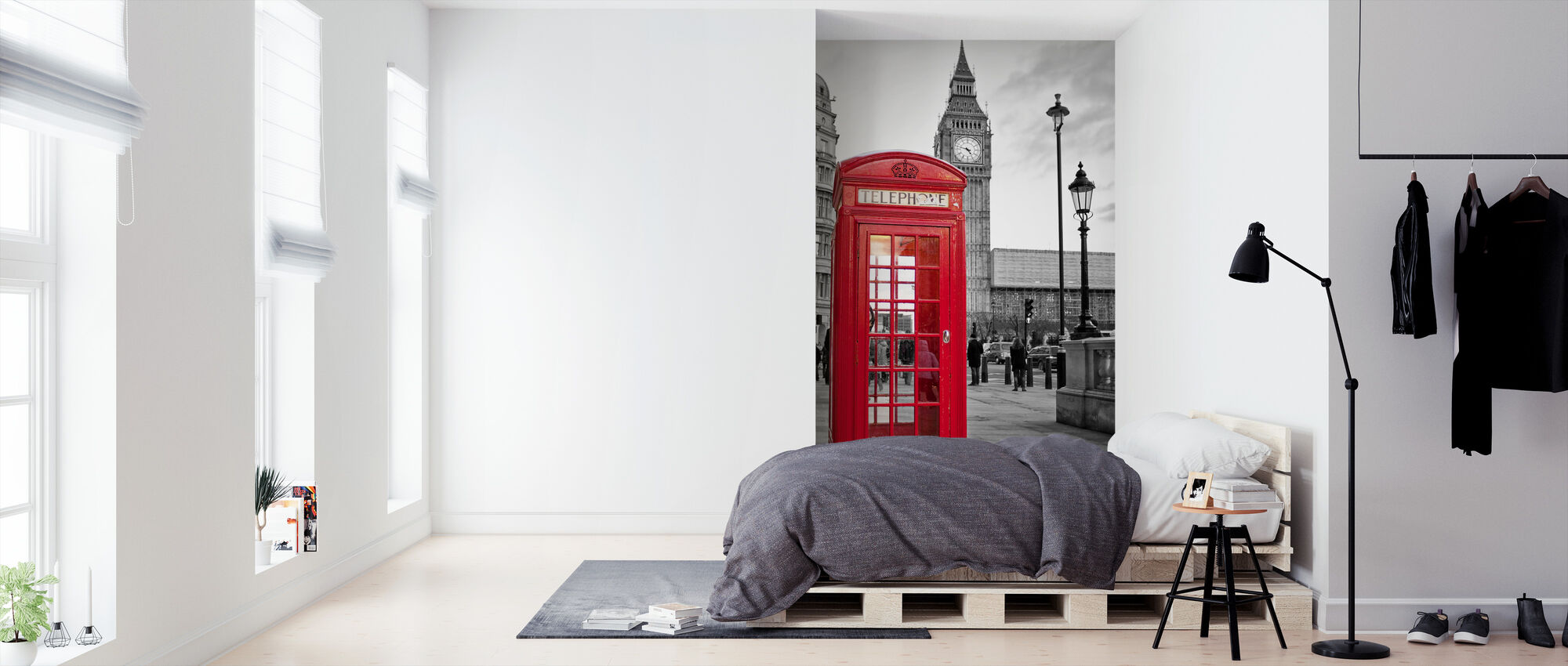 London Telephone - Wallpaper - Bedroom