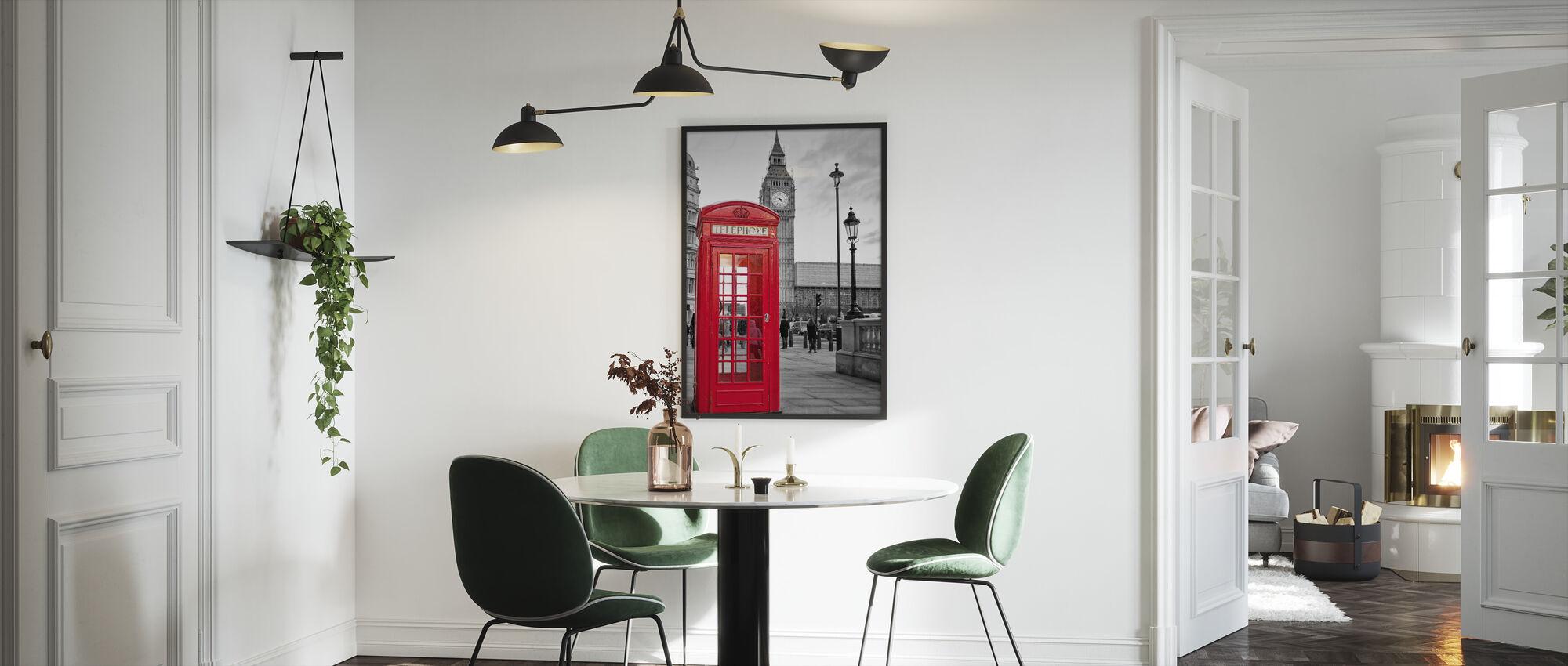 Lontoo Puhelin - Kehystetty kuva - Keittiö