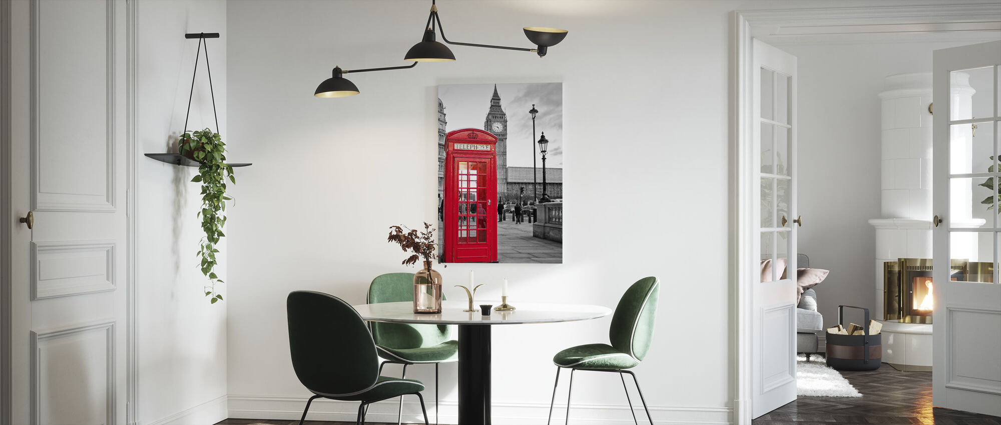 London Telephone - Canvas print - Kitchen