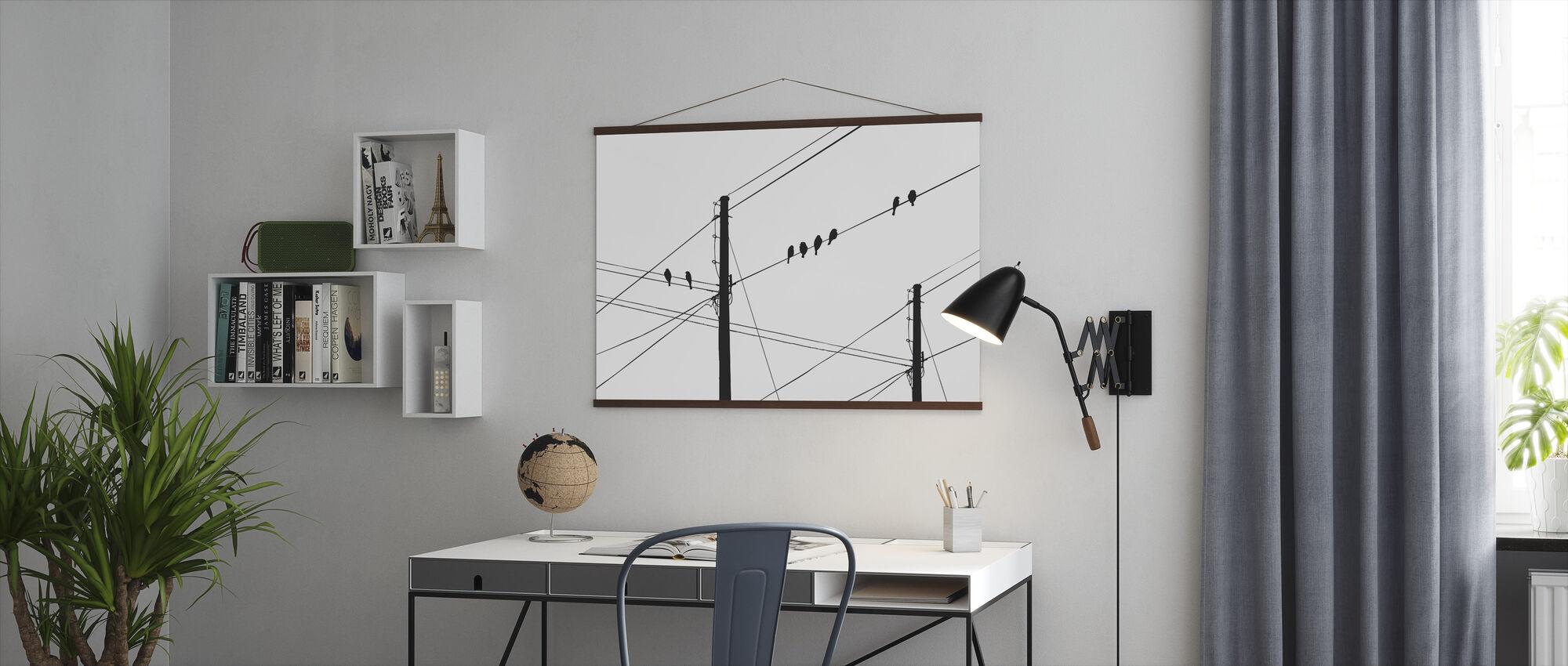 Powerlines - Zwart - Poster - Kantoor