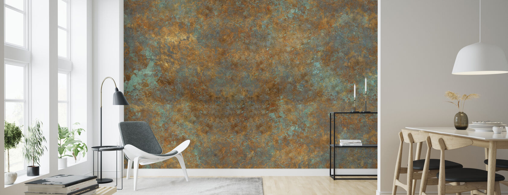 Vintage Bronze Background - Wallpaper - Living Room