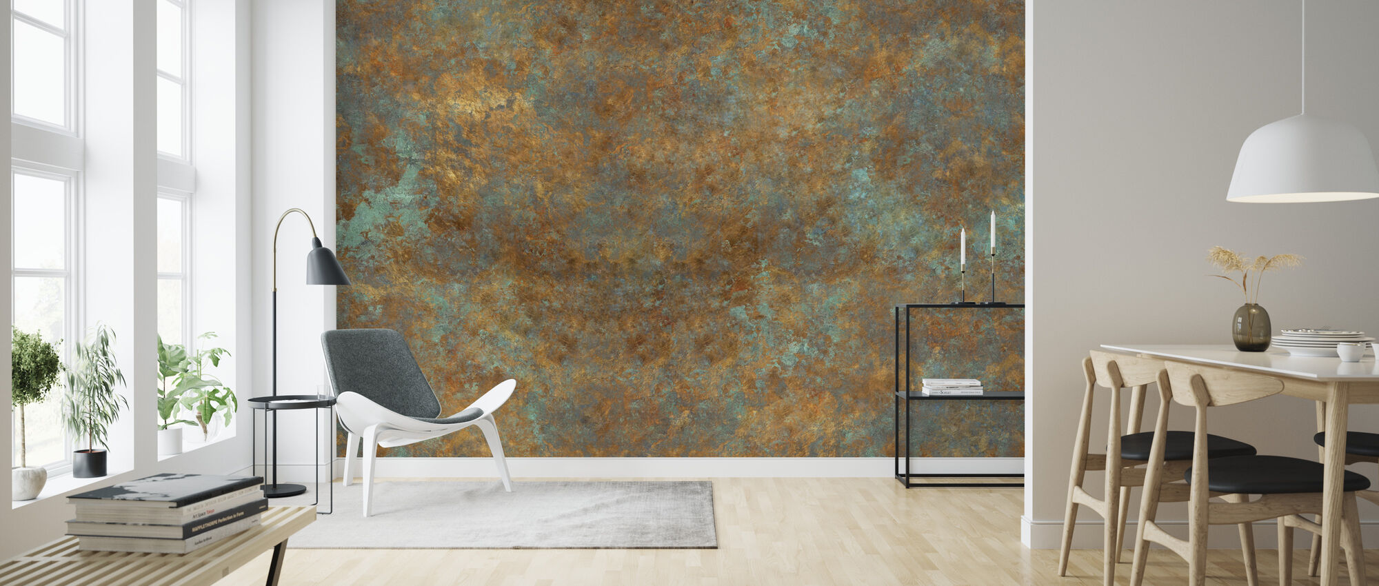 Vintage Bronzen Achtergrond - Behang - Woonkamer
