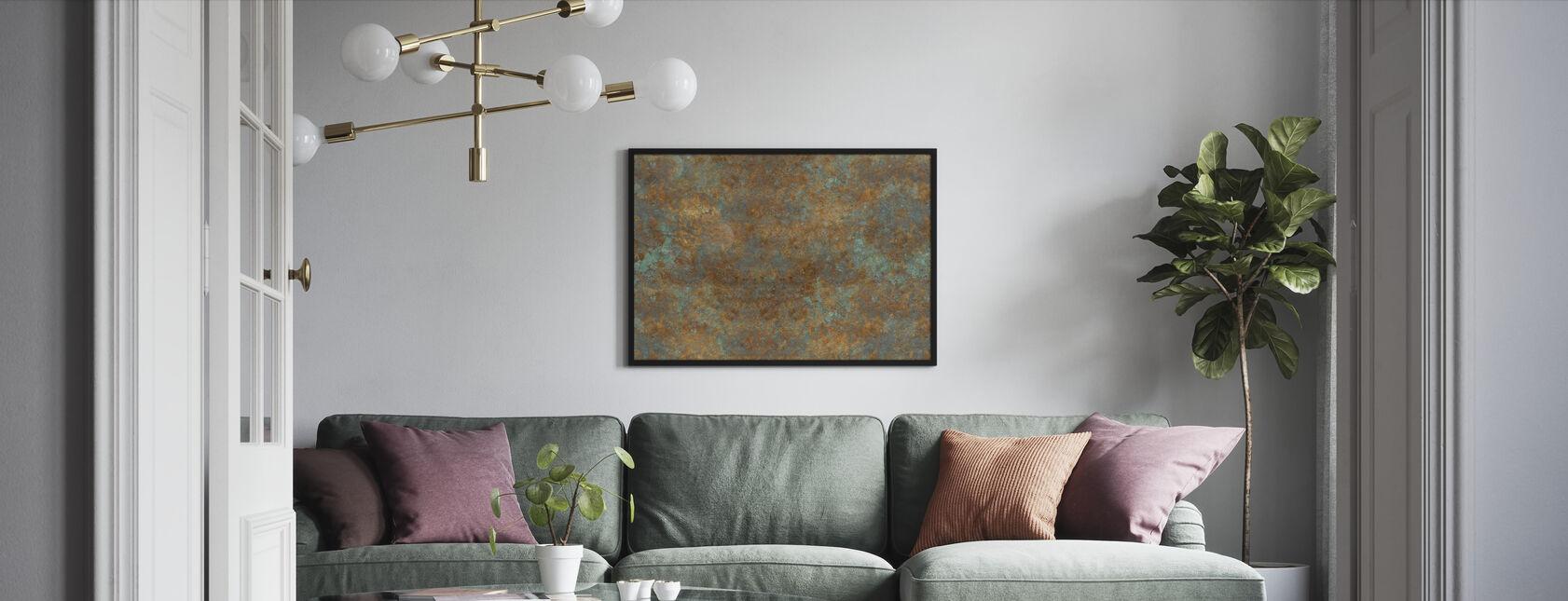 Vintage-Bronze-Hintergrund - Gerahmtes bild - Wohnzimmer