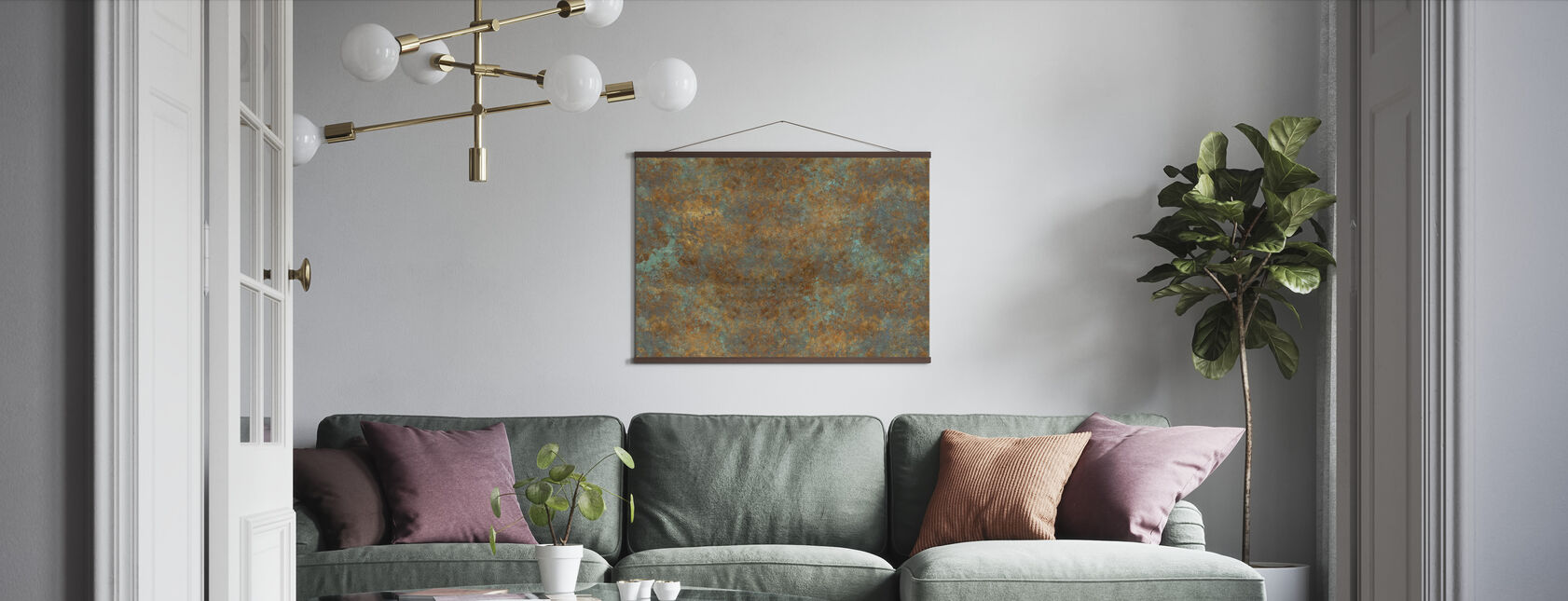 Vintage Bronze Background - Poster - Living Room