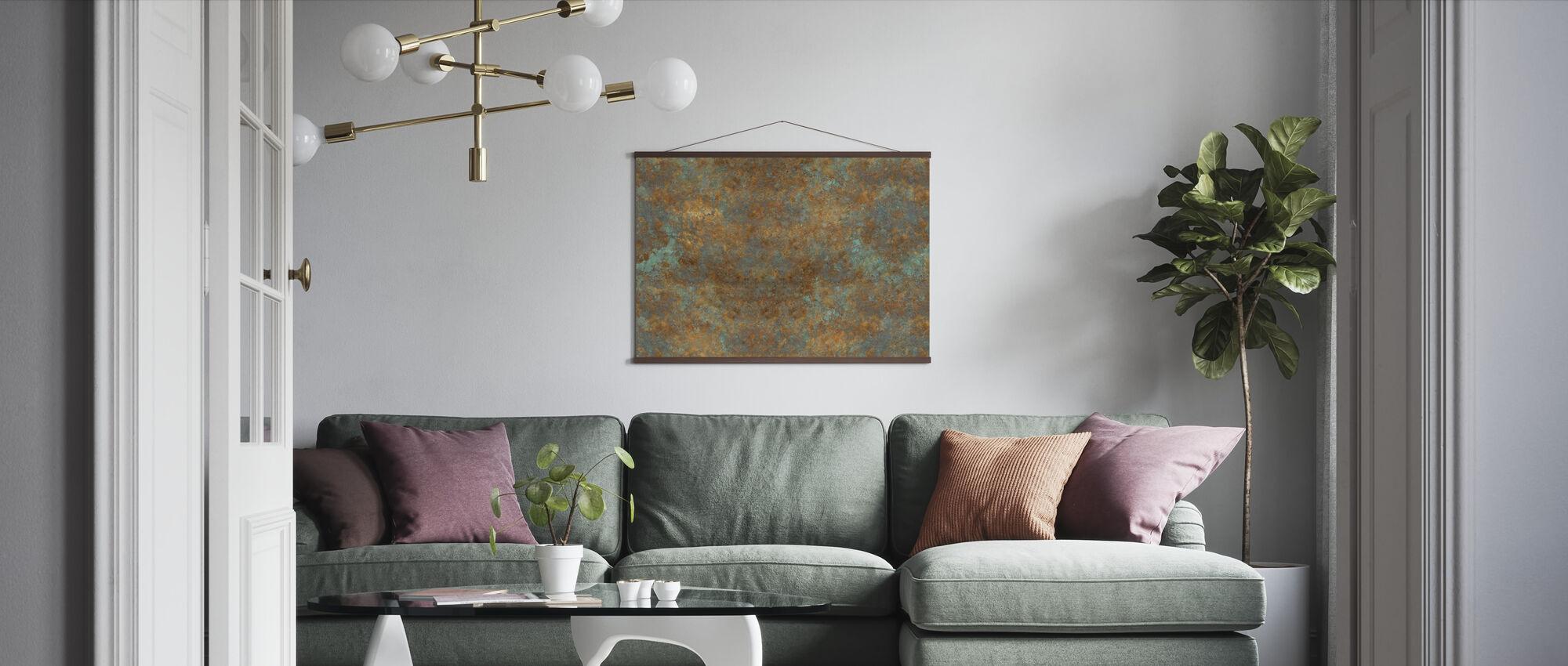 Vintage Bronzen Achtergrond - Poster - Woonkamer
