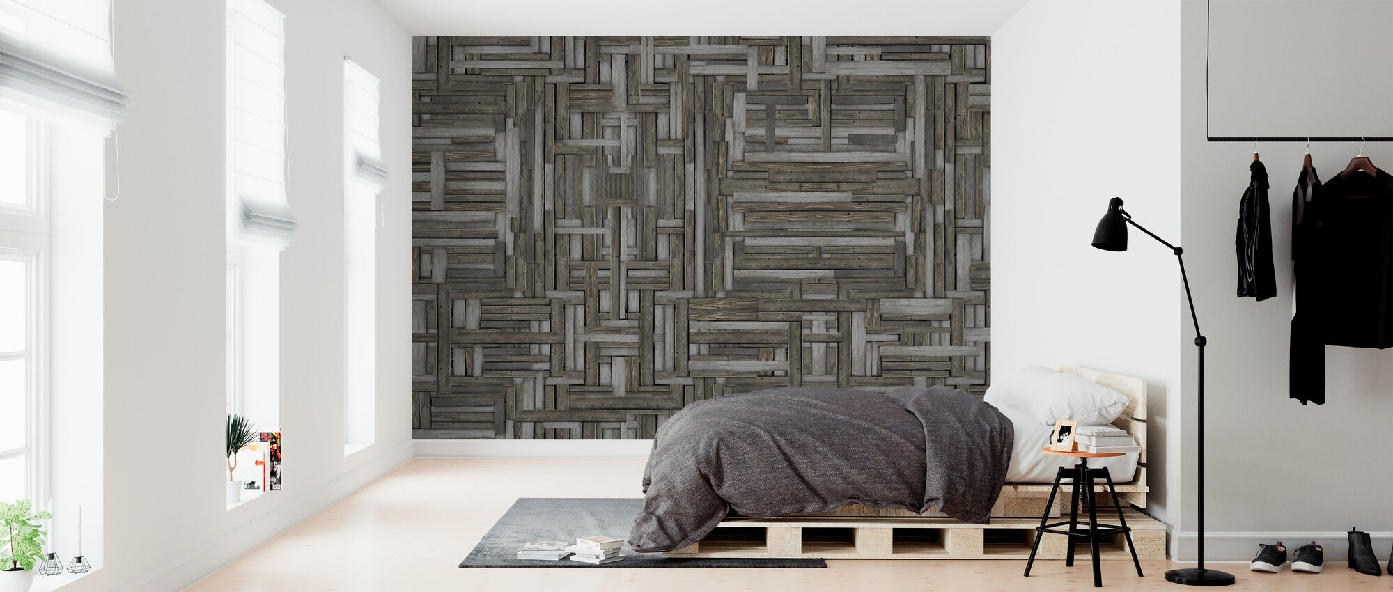 Old Wood Patterns - Wallpaper - Bedroom