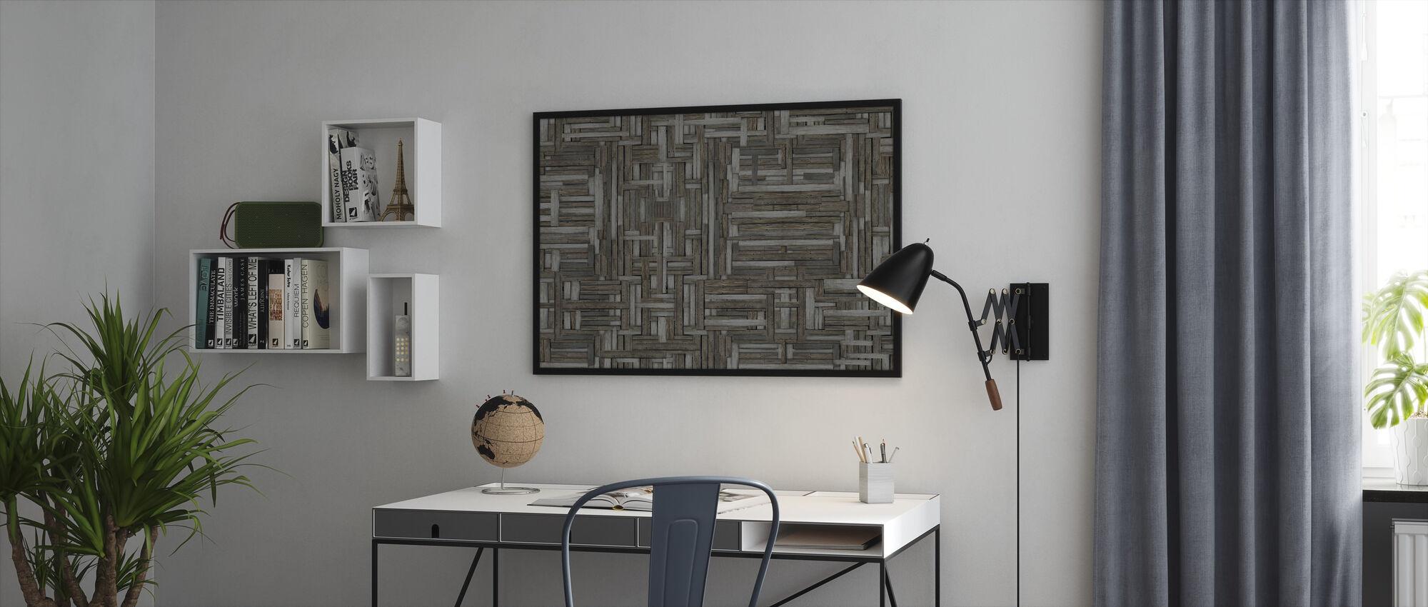 Old Wood Patterns - Framed print - Office