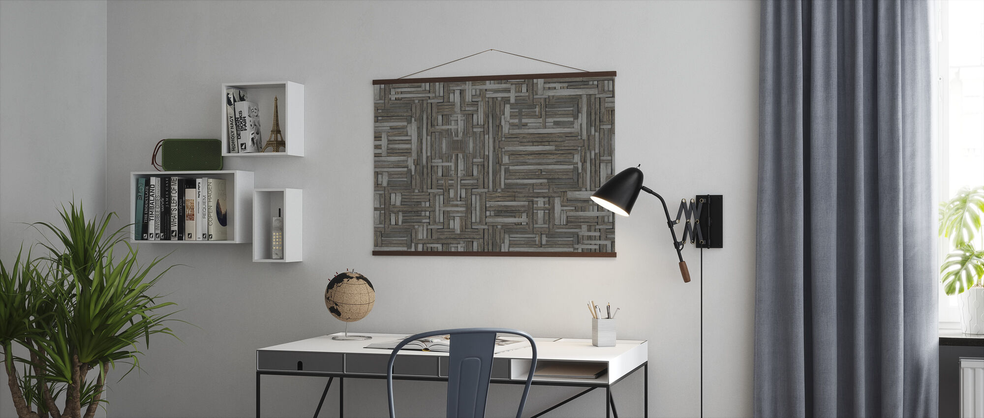 Old Wood Patterns - Poster - Office