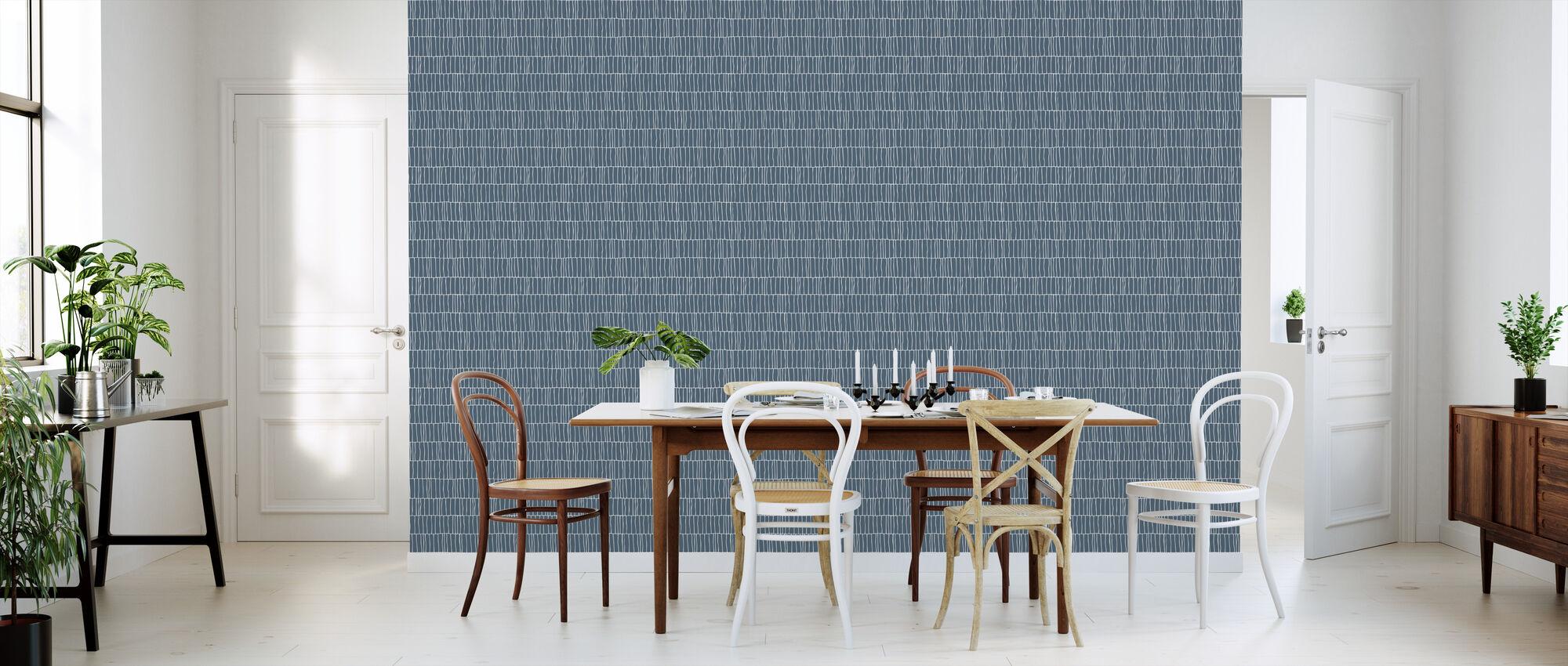 Columns - Petrol - Wallpaper - Kitchen