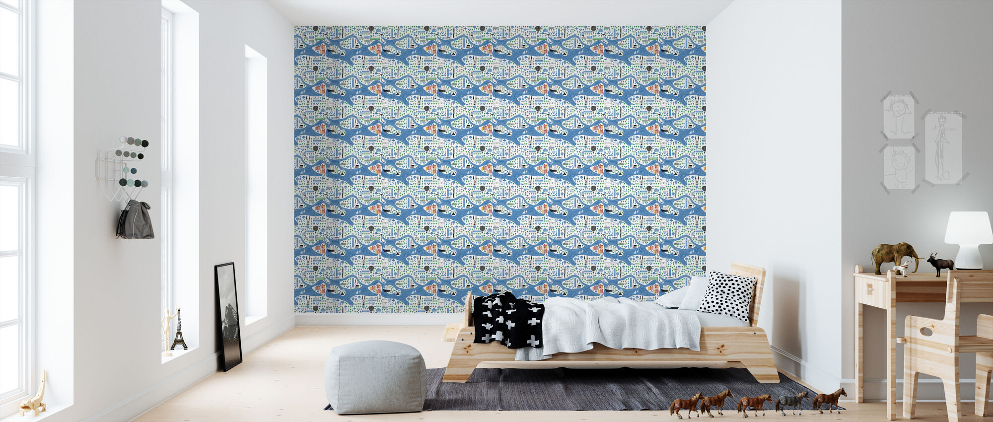 Stockholm - Wallpaper - Kids Room